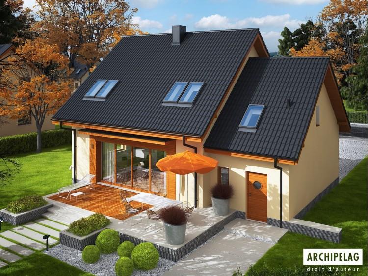 Plan de maison  E3 G1 ECONOMIC Option, maison ossature...