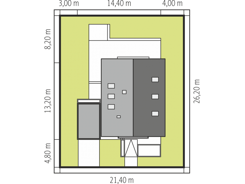 Plan de maison moderne DANIEL IV permis de construire, attestation ...