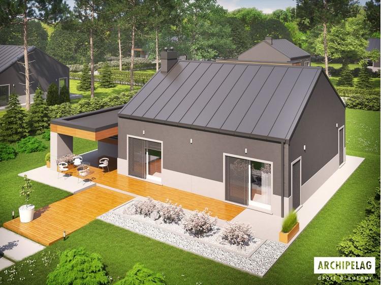 Plan de maison Edwin II G1 Option, maison ossature bois,...