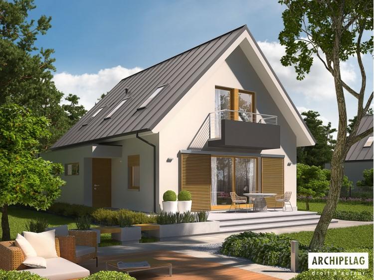 Plan de maison Eliot G1 Option, maison ossature bois,...