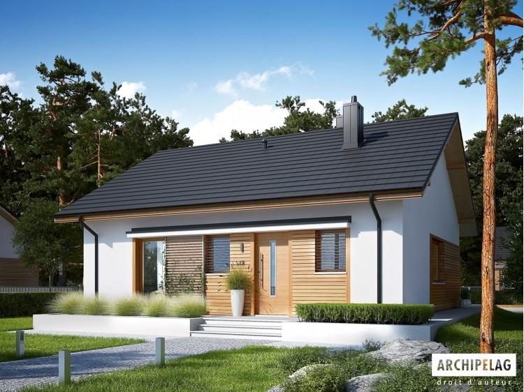 Plan de maison  Elmo  ECONOMIC  Option, maison ossature bois, enduit, bardage
