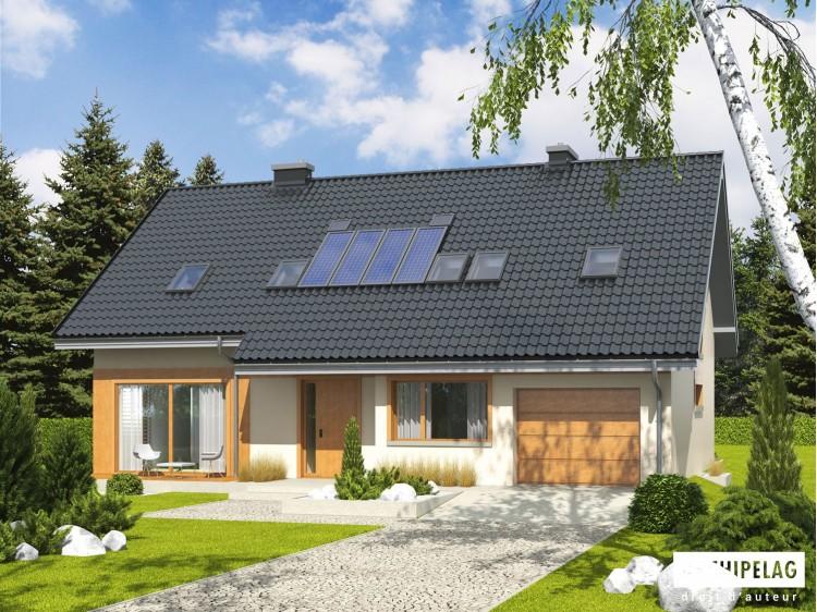 Plan de maison  AMBER-G1 Option, maison ossature bois