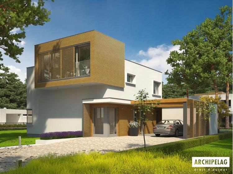 Plan de maison EX 10 II Option, maison ossature bois,...