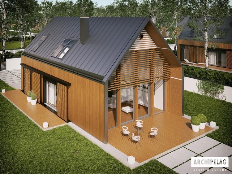 Plan de maison EX 14 ENERGO PLUS Option, maison ossature...