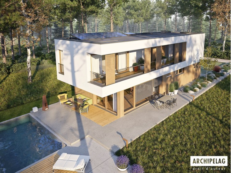 Plan de maison  EX 17 W2 ENERGO PLUS  Option, maison...