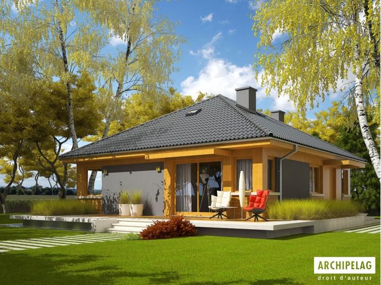 Plan de maison ANABELA Option, maison ossature bois