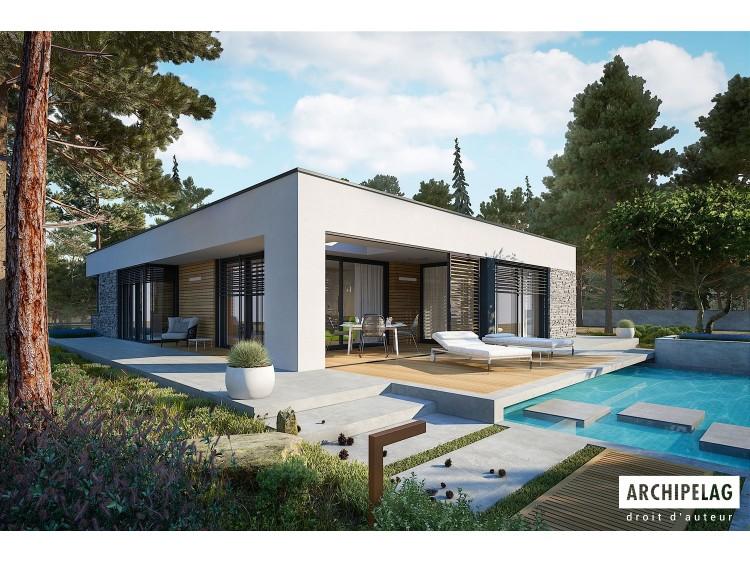 Plan de maison EX 21 G2 soft Option, maison ossature...