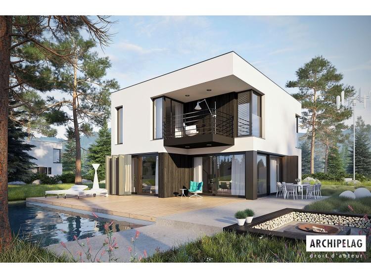 Plan de maison EX 2 ENERGO PLUS Option, maison ossature...