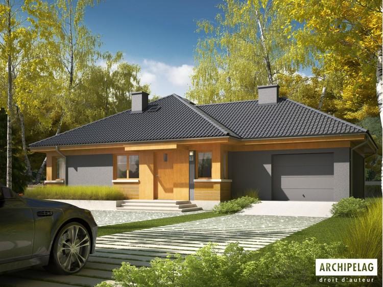 Plan de maison ANABELA G1 Option, maison ossature bois