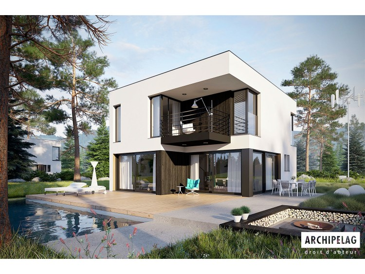 Plan de maison  EX 2 soft  Option, maison ossature bois,...
