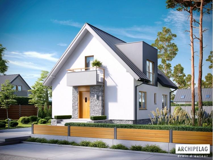 Plan de maison  ANDREAS Option, maison ossature bois