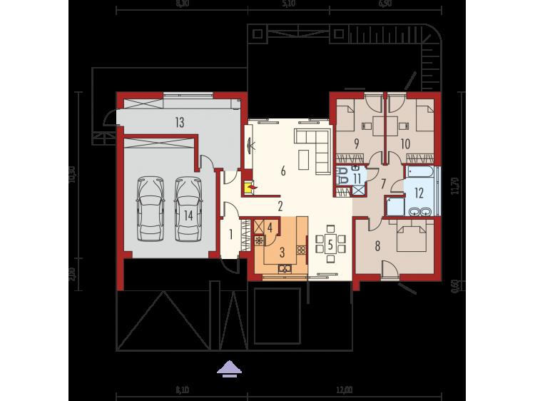 Plan de maison plain-pied...
