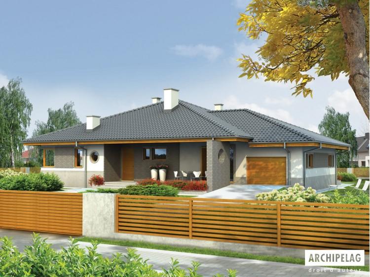 Plan de maison Florenc III G1 Option, maison ossature...