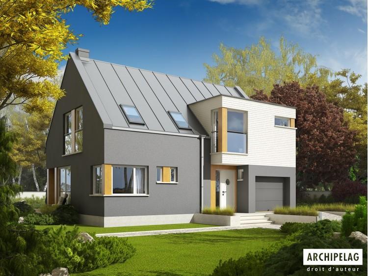 Plan de maison ANTEK G1 Option, maison ossature bois