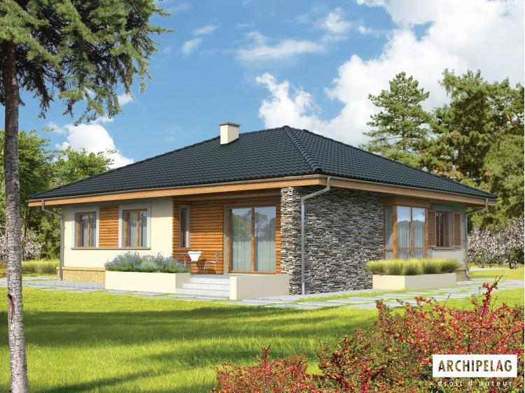 Plan de maison FRANCZI Option, maison ossature bois,...