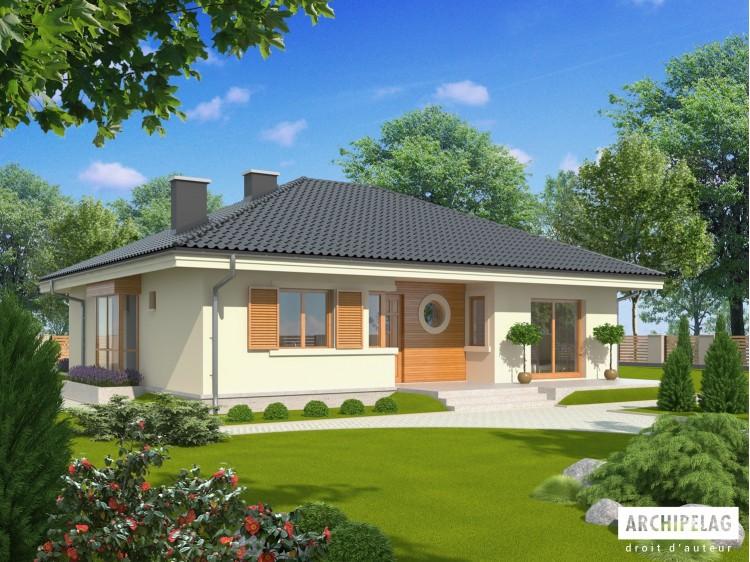 Plan de maison FRANCZI II Option, maison ossature bois,...
