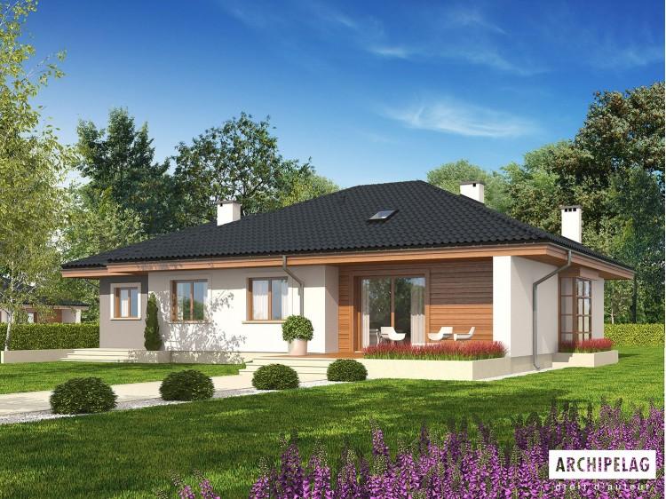 Plan de maison Franczi III G1 Option, maison ossature...