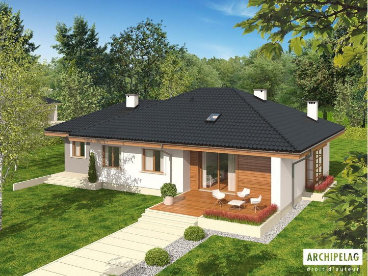 Plan de maison Franczi II G1 ECONOMIC Option, maison...