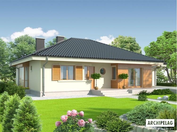Plan de maison Franczi II G1 Option, maison ossature...