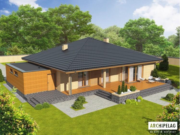 Plan de maison ANTONIO G1 Option, maison ossature bois