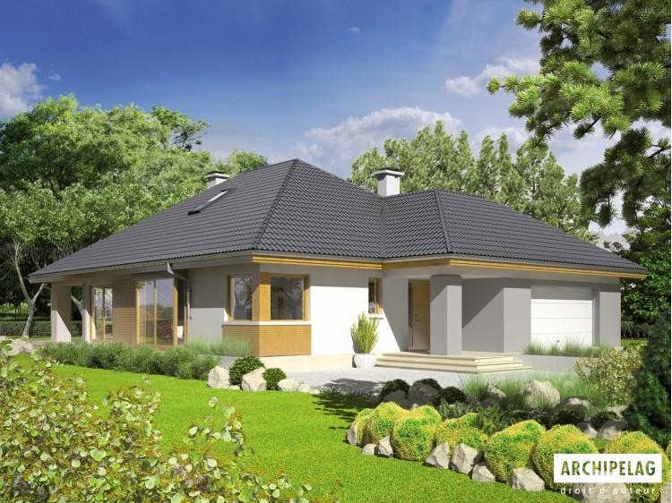 Plan de maison Glen III G2 Option, maison ossature bois,...