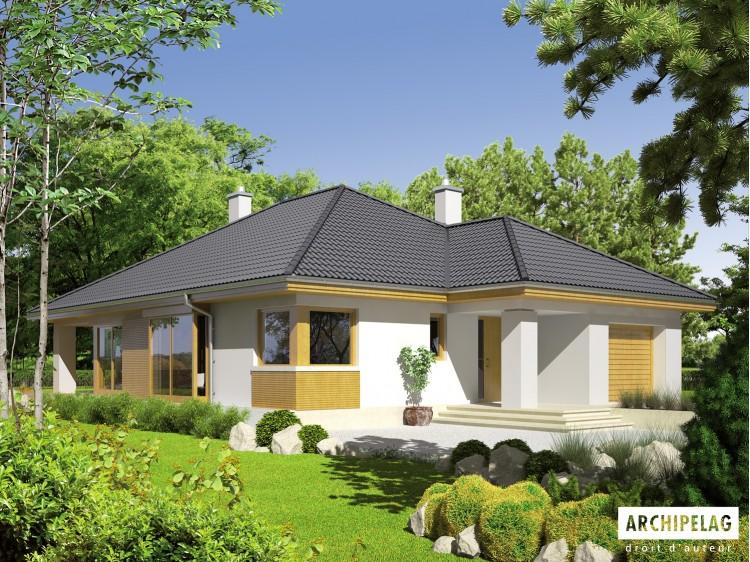 Plan de maison Glen II G1 LECA Option, maison ossature...