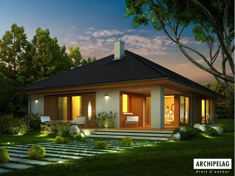 Plan de maison Glen IV G1 Option, maison ossature bois,...