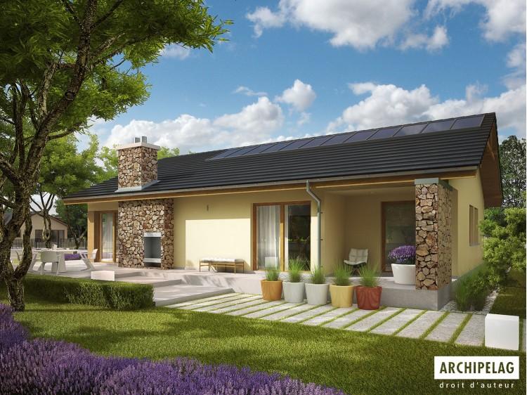 Plan de maison India G2 Option, maison ossature bois,...