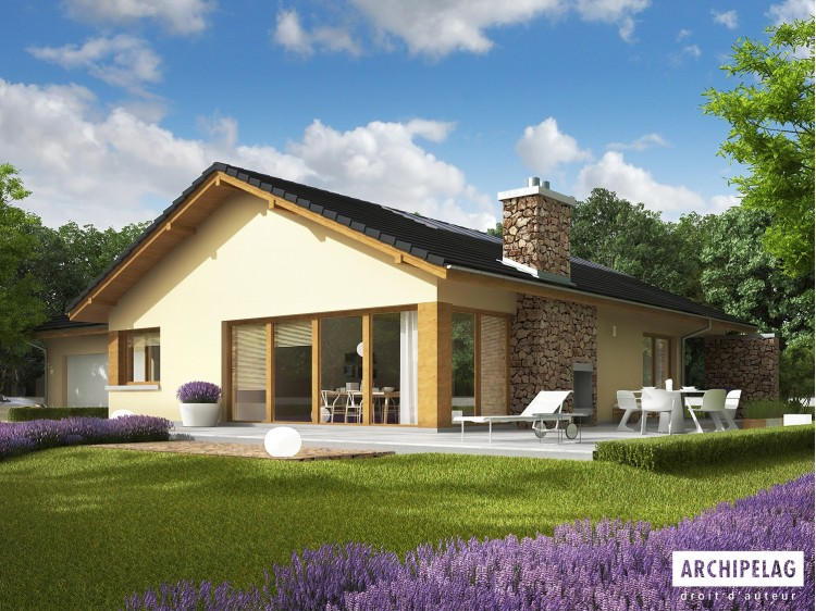 Plan de maison India II G2 Option, maison ossature bois,...