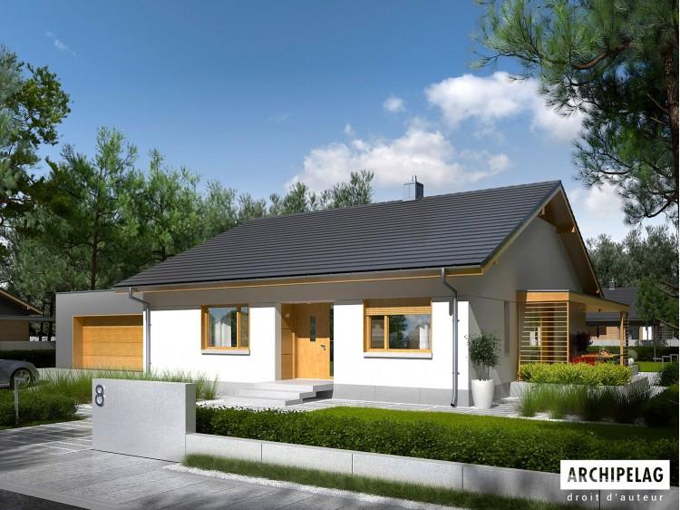 Plan de maison Iwo II G2 ENERGO PLUS Option, maison...