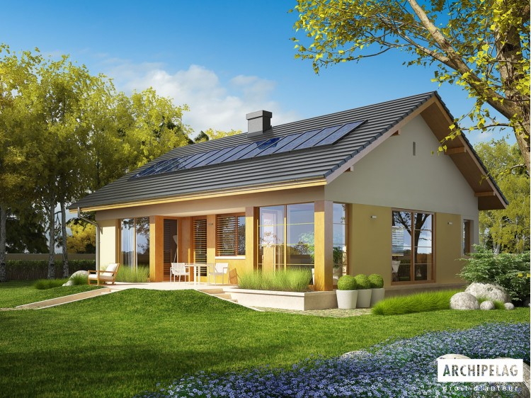 Plan de maison Karmela II Option, maison ossature bois,...