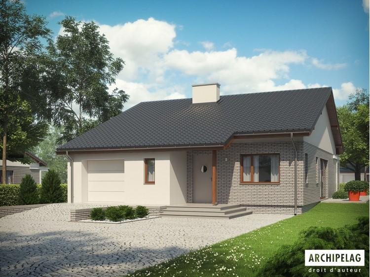 Plan de maison ARMANDO II G1 Option, maison ossature bois