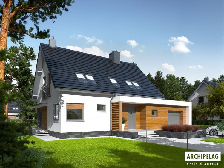 Plan de maison Lars G1 Option, maison ossature bois,...