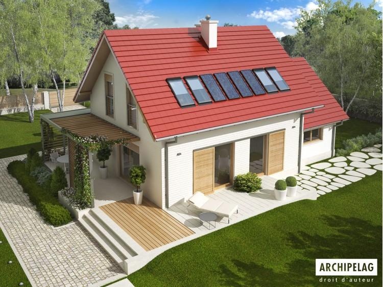 Plan de maison Lea G1 Option, maison ossature bois,...