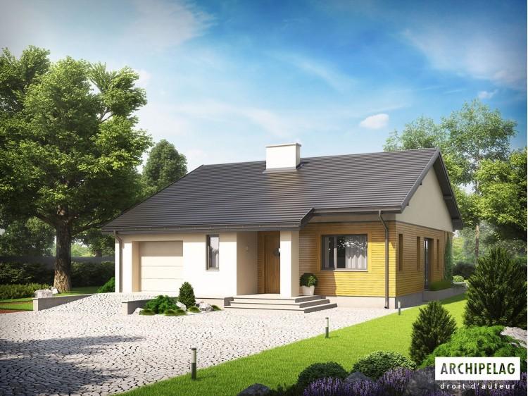 Plan de maison ARMANDO G1 Option, maison ossature bois