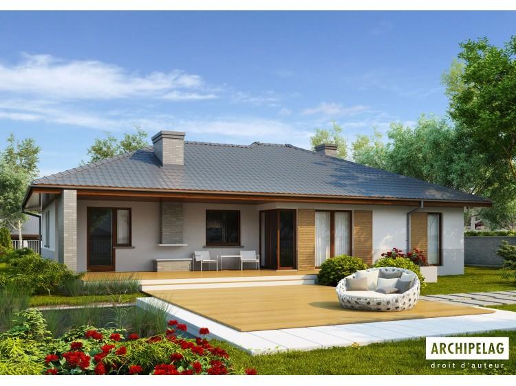 Plan de maison Lucjan G1 Option, maison ossature bois,...