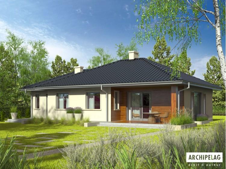 Plan de maison Manuela II G1 Option, maison ossature...