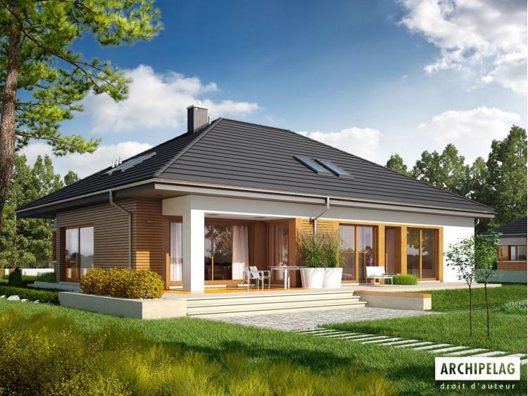 Plan de maison Marcel G2 Option, maison ossature bois,...