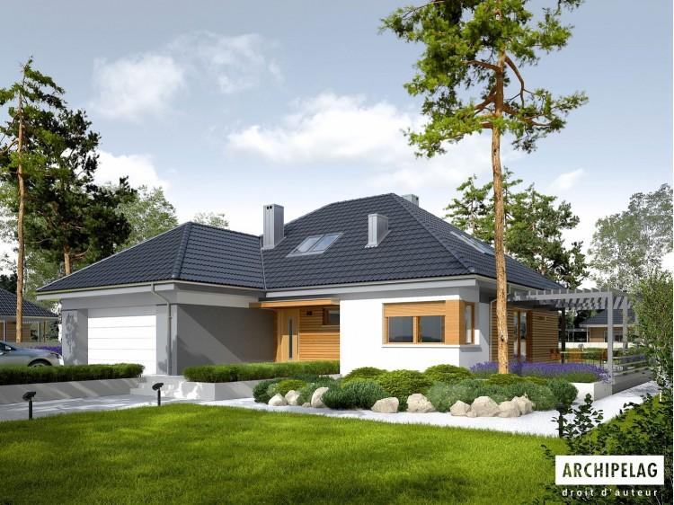 Plan de maison ASTRID III G2 Option, maison ossature bois
