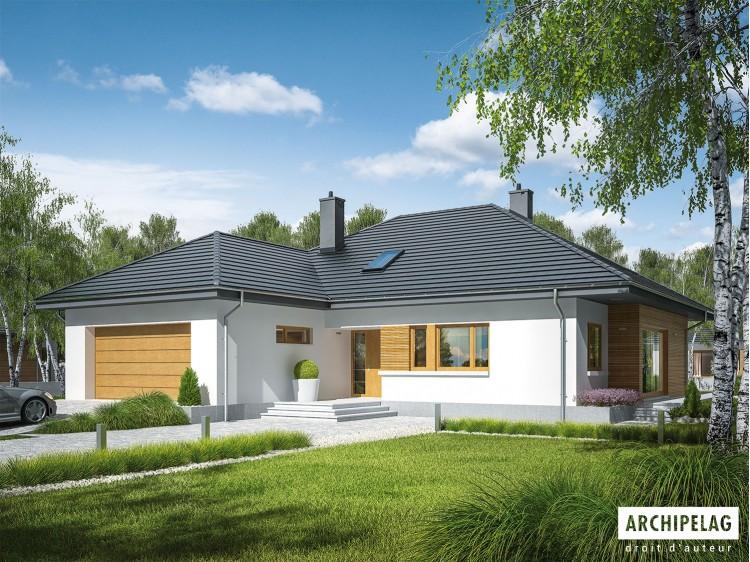 Plan de maison Marcel II G2 Option, maison ossature bois,...