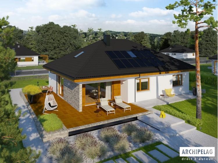 Plan de maison ASTRID MALA 2 G2 Option, maison ossature bois