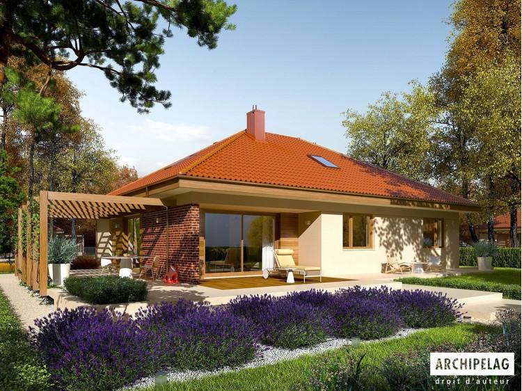 Plan de maison ASTRID MALA G1 Option, maison ossature...