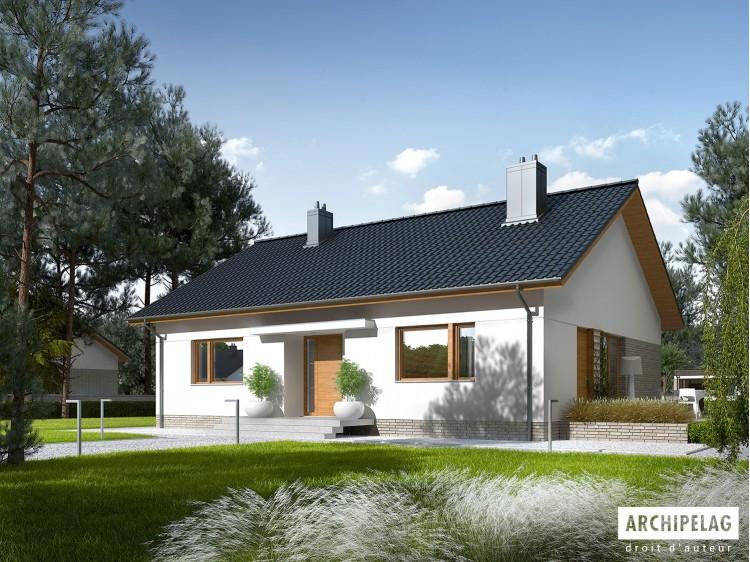 Plan de maison Swen II Option, maison ossature bois,...