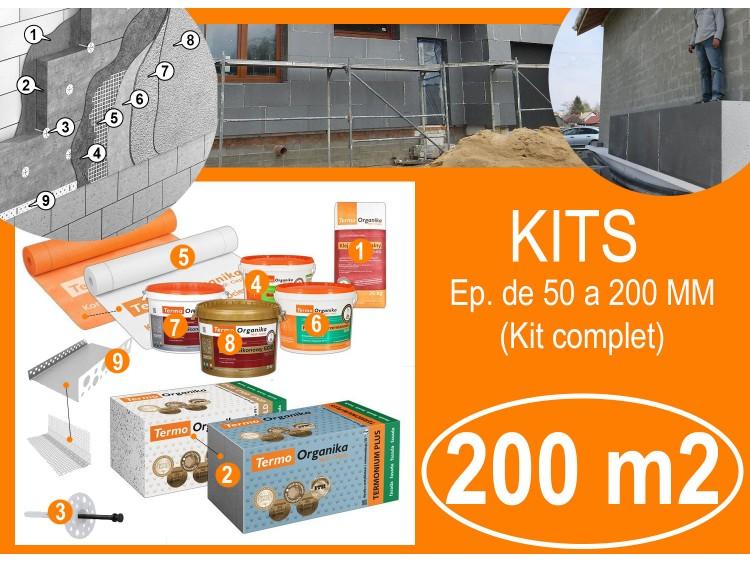 KIT Isolation par l'extérieur maison, murs 200 M2 / ÉP. 50-200 MM