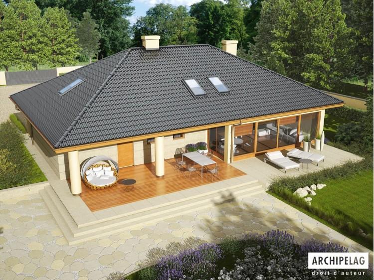 Plan de maison ALAN 2 G2 Option, maison ossature bois