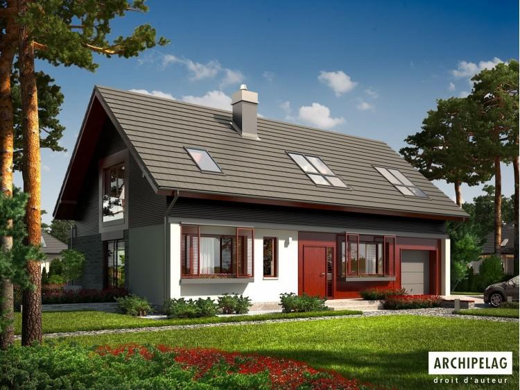Plan de maison BENJAMIN G1 Option, maison ossature bois
