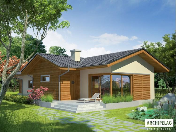 Plan de maison BIL-Option, maison ossature bois bardage bois