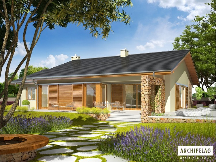 Plan de maison BOB G1 Option, maison ossature bois