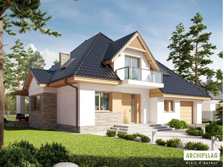 Plan de maison AMIRA G1 Option, maison ossature bois