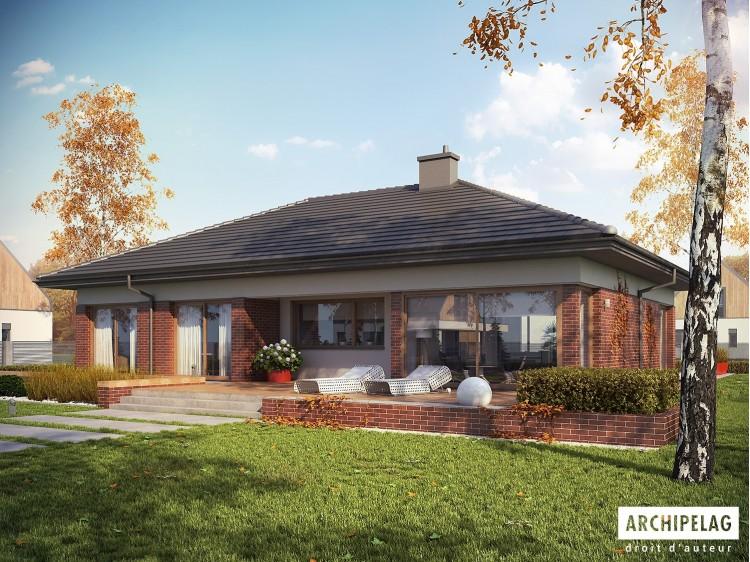 Plan de maison DOMINIK G2 WB Option, maison ossature bois...